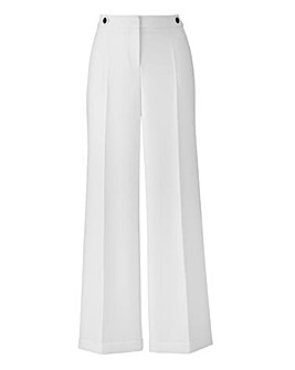Textured Wide Leg Trousers Regular