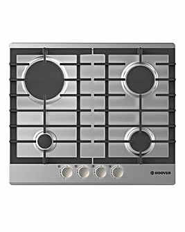 Hoover 4 Burner Gas Hob Steel