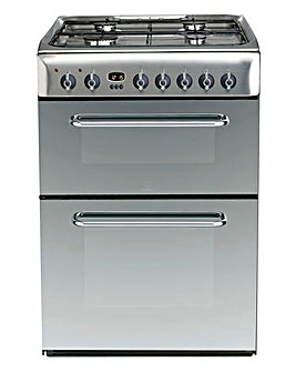 Indesit 60cm Double Oven Cooker Gas Hob