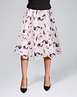Floral Print Prom Skirt with Pockets