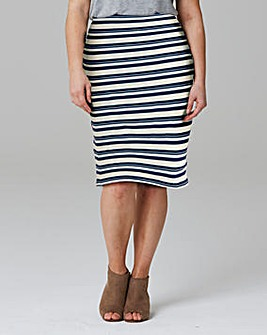 Stripe Stretch Jersey Tube Skirt