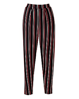 Black Stripe Jersey Harem Trouser Short