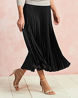 Sunray Pleat Maxi Skirt