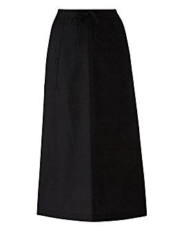 Linen Maxi Skirt Short