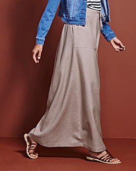Linen Maxi Skirt Reg 30ins