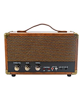 GPO Westwood BT Retro AMP Speaker Brown