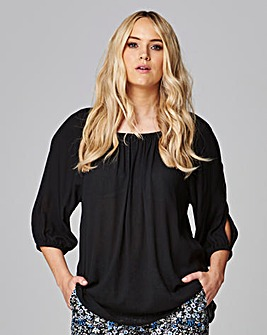Cold Shoulder Gypsy Top