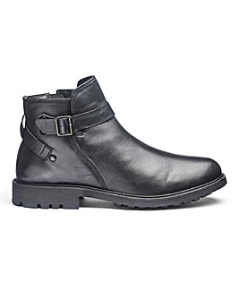 Leather Buckle Strap Boots Standard Fit