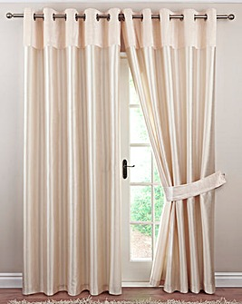 Lovelle Velvet Top Border Eyelet Curtain