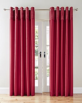 Lovelle Velvet Top Border Eyelet Curtain
