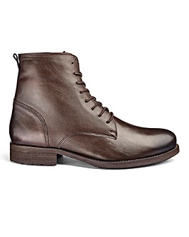 Leather Military Boots Extra Wide Fit
