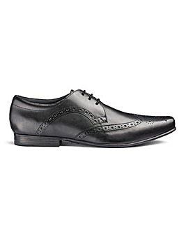 Leather Formal Brogue Shoes Ex Wide Fit