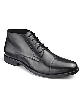 Leather Toe Cap Derby Boot Standard Fit