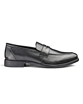 Leather Saddle Loafers Extra Wide Fit