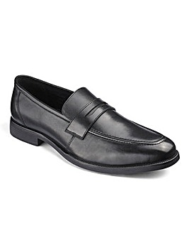 Leather Saddle Loafer Standard Fit
