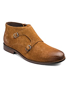 Flintoff By Jacamo Suede Monk Boot