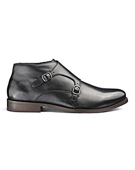 Flintoff By Jacamo Leather Monk Boot