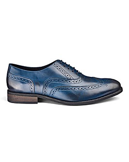 Leather Oxford Brogue Shoes Standard Fit