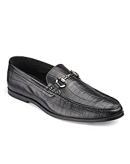 Premium Leather Snaffle Loafer Wide Fit