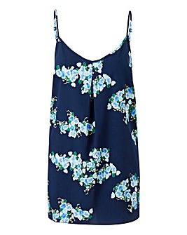 Navy Floral Strappy Cami Top
