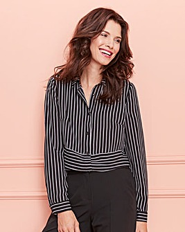 Black/Ivory Oversized Striped Shirt