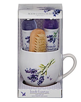 Lavender Hand Care Gift Set in Mug