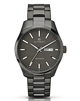 Accurist Gents Gunmetal Bracelet Watch