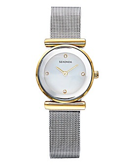 Sekonda Ladies Two Tone Mesh Watch