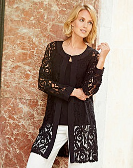 Nightingales Lace Unlined Jacket