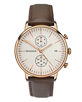 Sekonda Gents Watch With Leather Strap