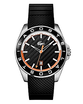 Lacoste Gents Silicon Strap Watch -Black