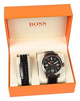 Boss Orange Gents Watch & Bracelet Set