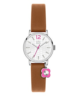 Orla Kiely Ladies Flower Charm Watch
