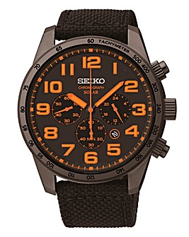 Seiko Gents Solar Chronograph Watch