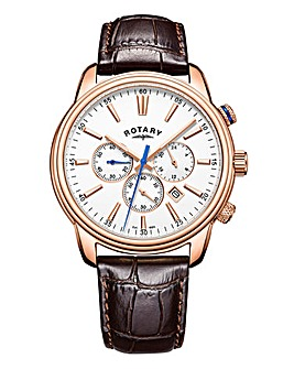 Rotary Gents Rose Tone Chronograph Watch