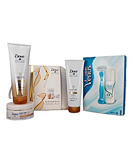 Dove & Gillette Skin Care Gift Sets