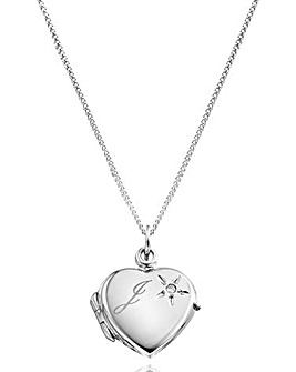 Personalised Heart Locket With Diamond