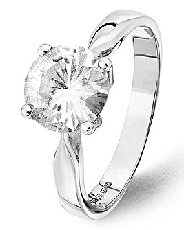 Moissanite 9ct Gold 2ct Solitaire Ring