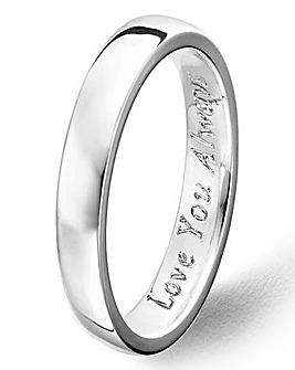 Argentium Silver 3mm Plain Wedding Band