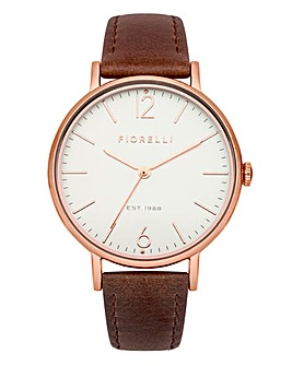 Fiorelli Ladies Brown Strap Watch