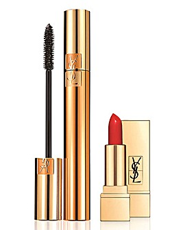 YSL Mascara and Mini Lipstick Set