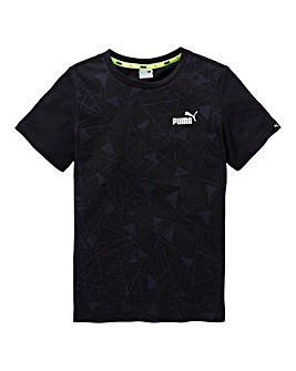 Puma Boys Sports Style Graphic T-Shirt