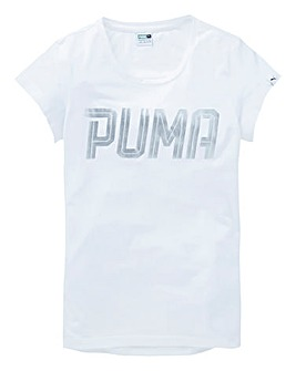 Puma Girls Foil Print T-Shirt