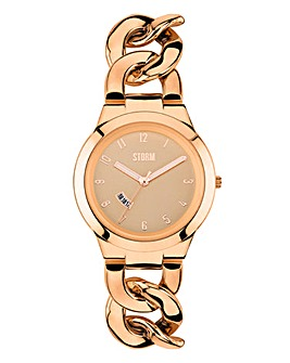 Storm Ladies Rose Tone Bracelet Watch