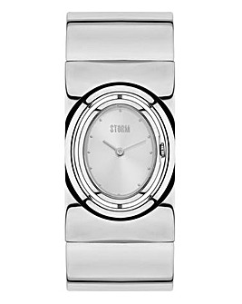 Storm Ladies Silver Tone Bangle Watch