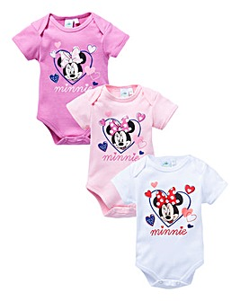 Minnie Mouse Pack of Three Sleepsuits