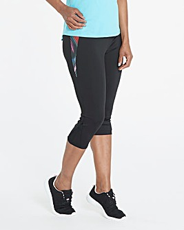 Sports Mesh Panel Capri Legging