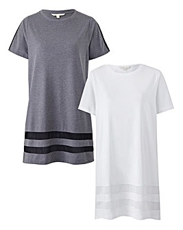 Pack of 2 Longline Mesh Tees