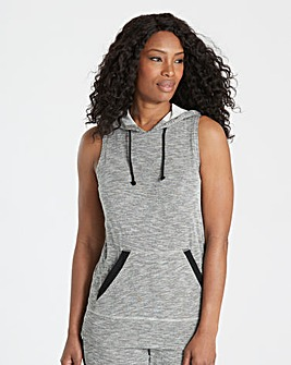Leisure Sleeveless Hoodie