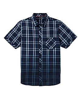 Firetrap Navy Barra Short Sleeve Shirt R